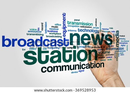 News station word cloud - stock photo