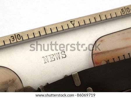 News title on the typewriter - stock photo