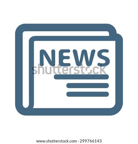 News Web Icon - stock photo