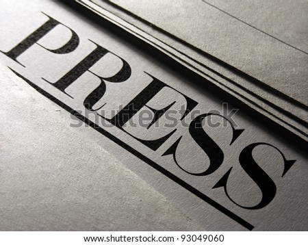 Newspaper. - stock photo