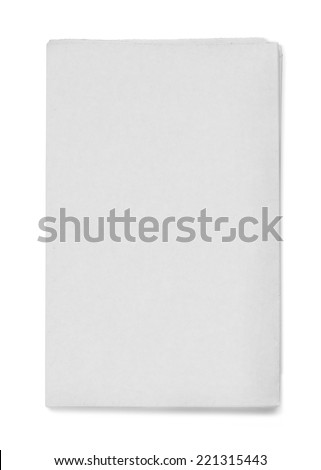 Newspaper Blank grey newspaper on white background - stock photo