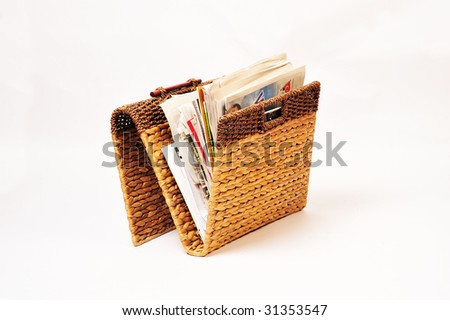newspaper rack - stock photo