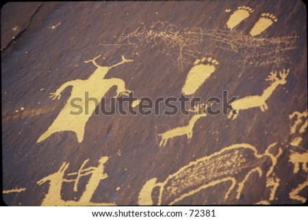 newspaper rock, Utah - stock photo