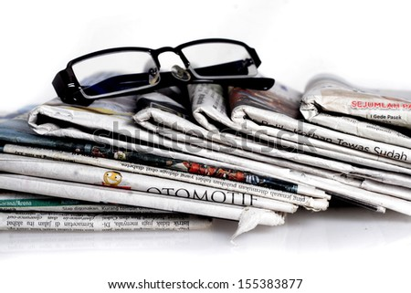 newspapers  - stock photo