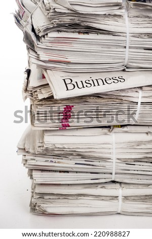 Newspapers: everyday searching for job and business opportunities - stock photo