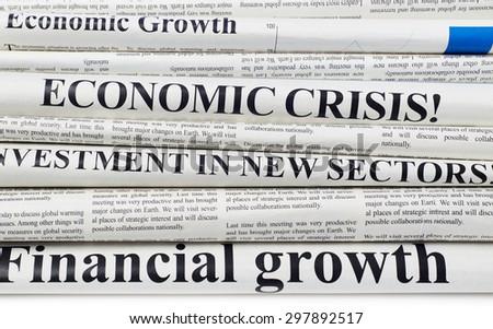 Newspapers headlines - stock photo
