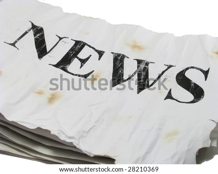newspapers over white background - stock photo