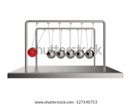 Newton's Cradle Pendulum - stock photo
