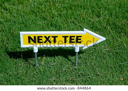 next tee sign - stock photo