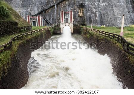 Neyyar River Dam in Kerala - stock photo