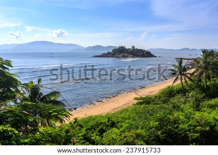 Nha Trang Bay, Vietnam. Taken From High Point - stock photo