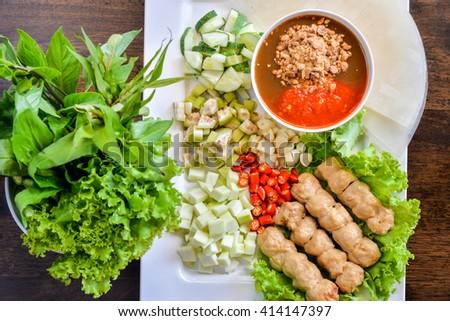 Nham due, Vietnamese food - stock photo