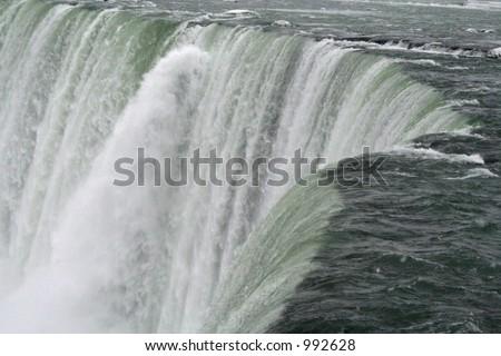 Niagara Falls - All the way down - stock photo