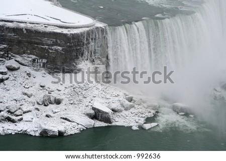 Niagara Falls Freeze - stock photo