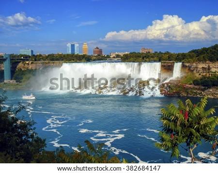 Niagara falls from Canada - stock photo