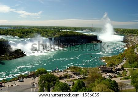 Niagara Falls Full View - stock photo