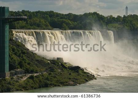 Niagara Falls in the daytime (The Horseshoe Falls) - stock photo