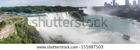 Niagara Falls in US side - stock photo