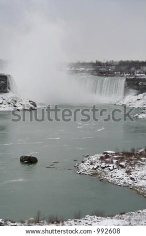 Niagara Falls in Winter - stock photo