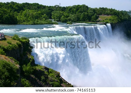 Niagara Falls Summer Time - stock photo