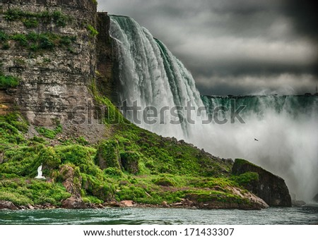 Niagara Falls, wonderful natural landscape in summer season. - stock photo