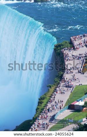 Niagara waterfall, the edge - stock photo
