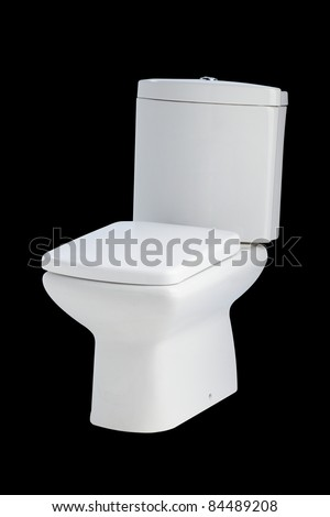 Nice and beautiful design ceramic toilet bowl - stock photo