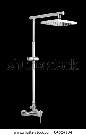 Nice and beautiful design shower head set - stock photo