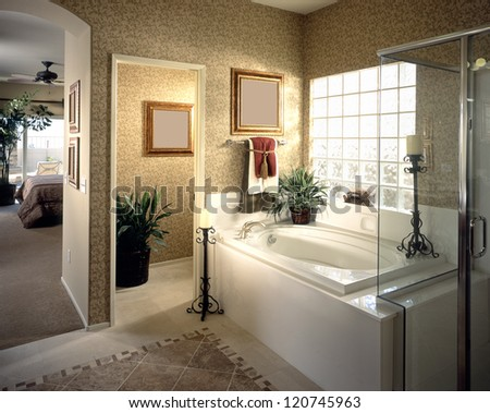 Nice Bathroom Architecture Stock Images,Photos of Living room, Bathroom,Kitchen,Bed room, Office, Interior photography. - stock photo