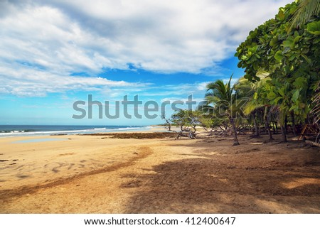 Nice beach scenario in northern Costa Rica - stock photo