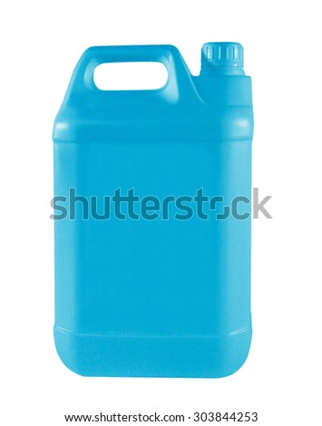 nice blue canister - stock photo