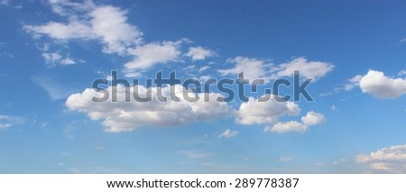 Nice blue sky with clouds. - stock photo