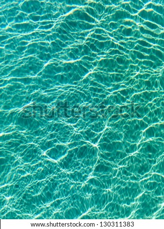 Nice blue water ripples in the Indian Ocean - stock photo