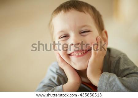 nice boy smiling - stock photo