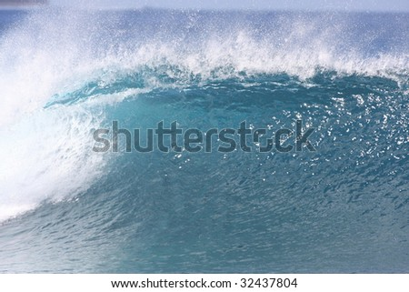 nice breaking wave - stock photo