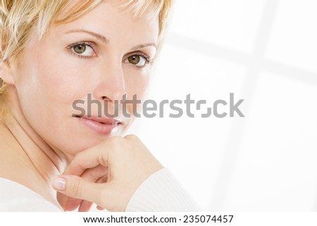 Nice, forty years old lady - stock photo