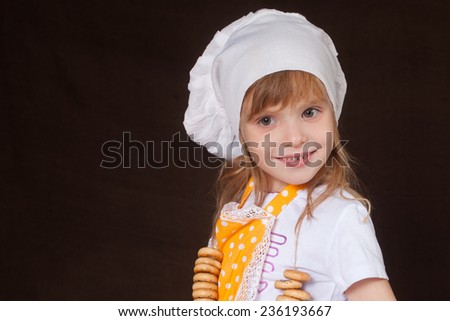 nice girl scullion  - stock photo