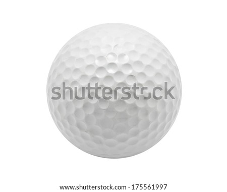 Nice Golf ball isolated on white background - stock photo