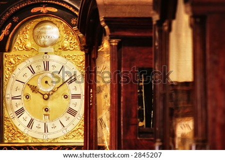 nice grandfather clocks - stock photo