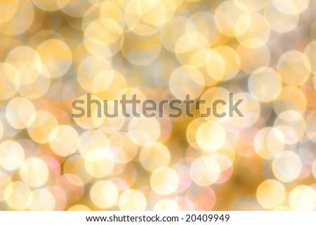 nice holiday-background of circular Christmas lights - stock photo