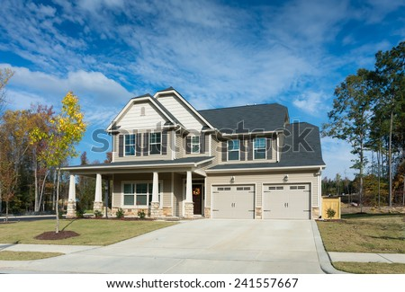 Nice house in suburb of Raleigh  - stock photo