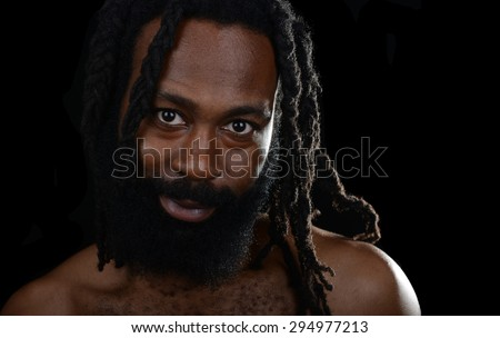 Nice Image of a Handsome Afro American Man - stock photo