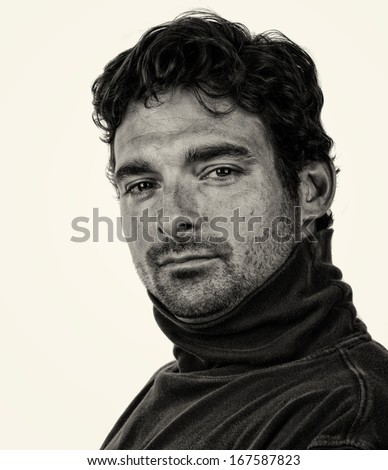 Nice Image of a Handsome italian man isolated - stock photo