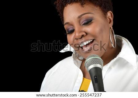 Nice Image of a Jazz singer - stock photo
