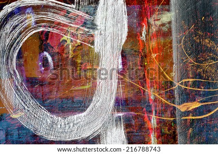 Nice Image Of a Large scale Original Oil Painting - stock photo