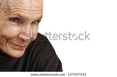 Nice Image of a peaceful Elderly Woman - stock photo
