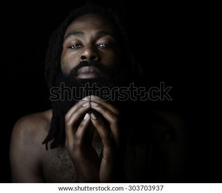 Nice Image of a Very Spiritual man - stock photo