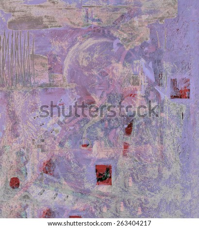 Nice Image of Large Scale Original Oil painting on Canvas - stock photo
