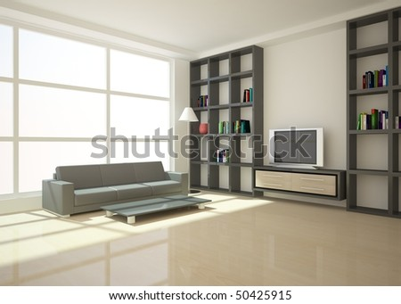 nice interior composition - stock photo