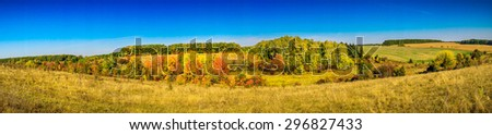 Nice landscape in autumn. - stock photo